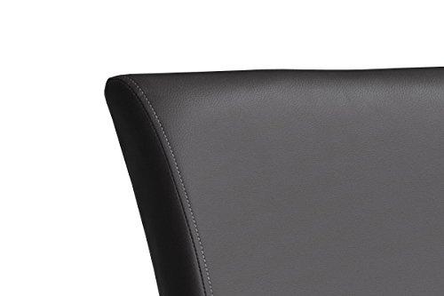 robas lund stuhl barstuhl barhocker 360 grad drehbar leder edelstahl schwarz 50 x 42. Black Bedroom Furniture Sets. Home Design Ideas