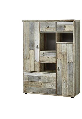 Stella Trading BZDDD01022 Kommode Sideboard Driftwood, Holz, Braun, 99 x 133 x 39 cm