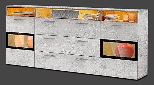 generic sideboard wohnzimmer wohnwand anbauwand beton optik matt neu 452893 retro stuhl. Black Bedroom Furniture Sets. Home Design Ideas