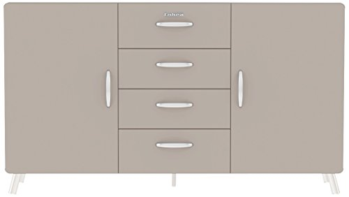 Tenzo 4936-083 Cobra Designer Sideboard, 92 x 163 x 43 cm, MDF lackiert, warm grey
