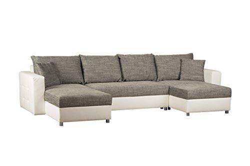 schlafcouch mit bettkasten recamiere rechts oder links montierbar strukturstoff und. Black Bedroom Furniture Sets. Home Design Ideas
