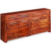 Festnight Sideboard Kommode Massiv Sheesham-Holz 160×35×75 cm