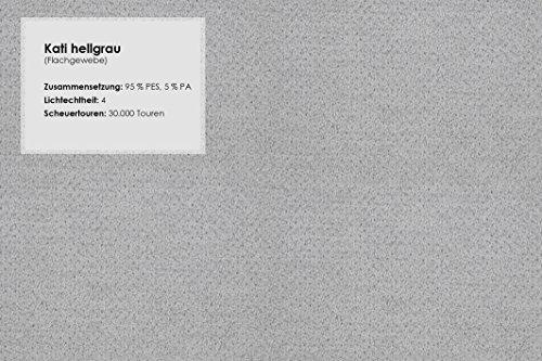 CAVADORE Wohnlandschaft Winstono mit Federkern und Longchair Links/Sofa U-Form Grau im Modernen Design mit Viel Platz für die Ganze Familie/Größe: 317x88x220 (BxHxT)/Farbe: Hellgrau