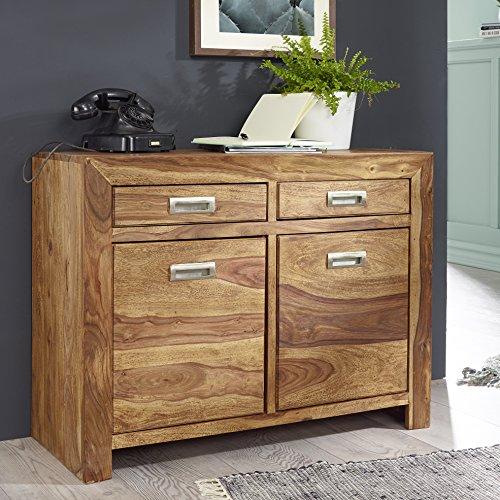 finebuy sideboard massivholz sheesham kommode 90 cm 2 schubladen 2 t ren design highboard. Black Bedroom Furniture Sets. Home Design Ideas