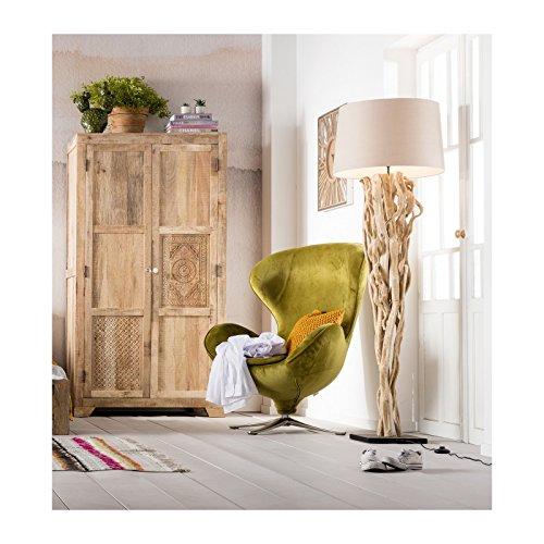 kare stehlampe scultra 34925 moderne gro e design standleuchten mit beigem stoffschirm und. Black Bedroom Furniture Sets. Home Design Ideas