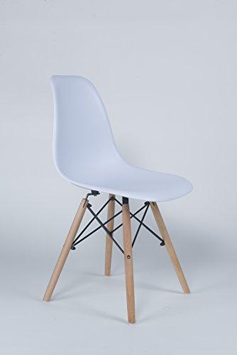 Millhouse Eiffel hochwertiger Stuhl im Retro-Design, fürs Esszimmer / Büro, als Beistellstuhl oder Vorzeigestück. weiß