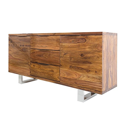 Massives Sideboard Sheesham Palisander FIRE & EARTH Stone Finish 160cm