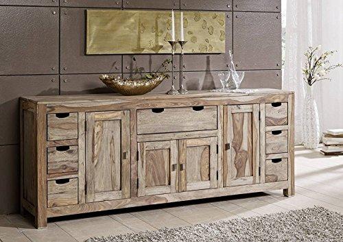 palisander massivholz sideboard sheesham holz m bel nature grey 080 retro stuhl. Black Bedroom Furniture Sets. Home Design Ideas