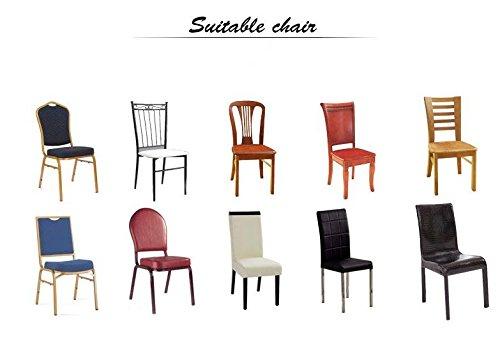 iEventStar PU Kunstleder Leder Wasserdichte Stretch Esszimmer Stuhlabdeckung Stuhl Protector Schutzhülle (Braun, 4)