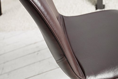 Retro Stuhl AMSTERDAM CHAIR Braun Designklassiker Antik Look Esszimmer-Stuhl sternförmiges Gestell