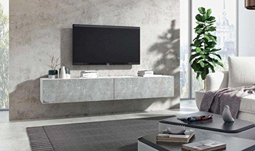 wuun tv board h ngend 8 gr en 5 farben 280cm matt wei beton lowboard h ngeschrank h ngeboard. Black Bedroom Furniture Sets. Home Design Ideas