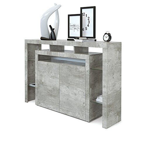 Highboard Sideboard Rosario 160 in Betonoptik