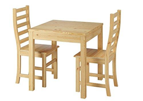 erst holz sch ne essgruppe mit tisch und 2 st hle kiefer natur massivholz c set 21. Black Bedroom Furniture Sets. Home Design Ideas