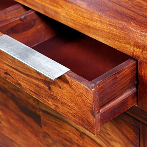 vidaXL Massivholz Sideboard Beistellkommode Anrichte Sheesham-Holz 160×35×75 cm