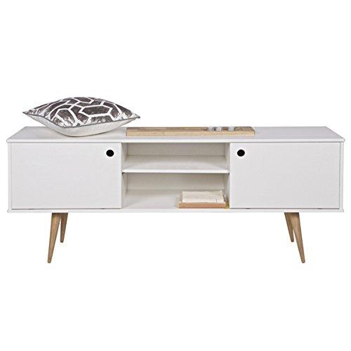 Retro TV Board Möbel Sideboard Lowboard Unterschrank Fernsehtisch Schrank weiß