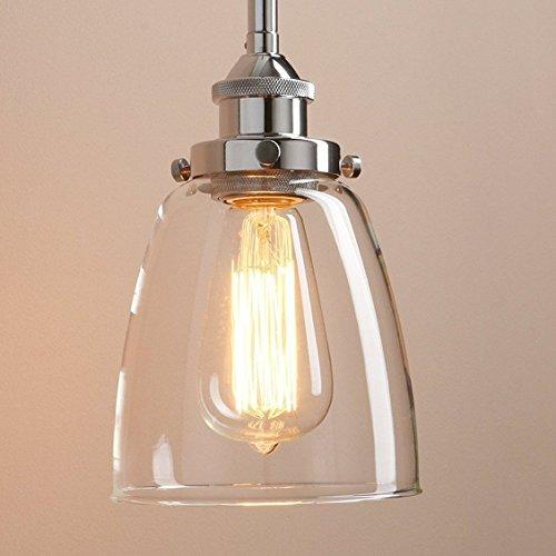 Lightsjoy Hängeleuchte Vintage Glas Pendelleuchte Industrial Hängelampe Retro Industrie Lampen Hängende Deckenleuchte E27 für Esszimmer Esstisch Küche Wohnzimmer Schlafzimmer Hotel Bar usw.