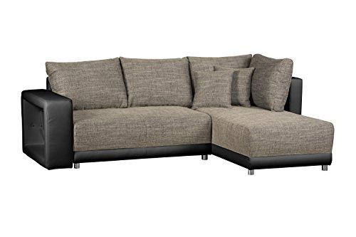 cavadore wohnlandschaft l form mit federkern sofa mit schlaffunktion und bettkasten mit. Black Bedroom Furniture Sets. Home Design Ideas