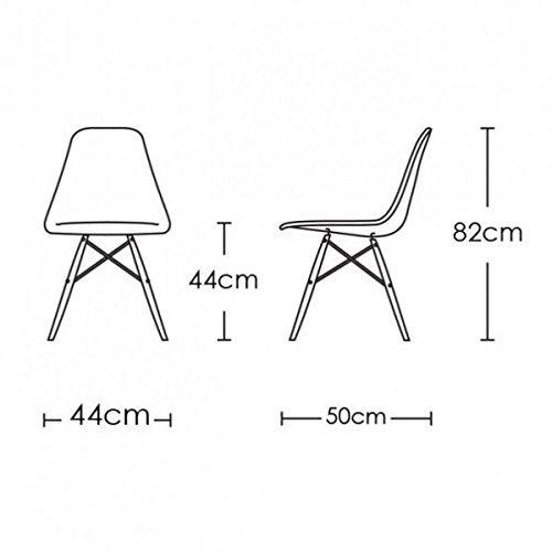 MCC Retro Design Stühle LIA im 4er Set, Eiffelturm inspirierter Style für Küche, Büro, Lounge, Konferenzzimmer etc., 6 Farben, KULT (Weiß)