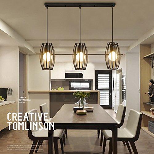 lednut vintage pendelleuchte 3er set kronleuchter pendellampe schwarz e27 lampenschirm f r k che. Black Bedroom Furniture Sets. Home Design Ideas