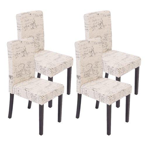 mendler 4x esszimmerstuhl stuhl lehnstuhl littau textil. Black Bedroom Furniture Sets. Home Design Ideas