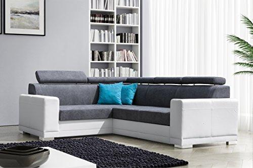 mb moebel ecksofa eckcouch mit bettkasten sofa couch l. Black Bedroom Furniture Sets. Home Design Ideas