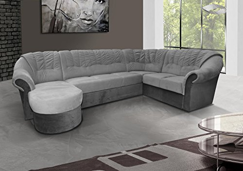 mb moebel ecksofa mit schlaffunktion eckcouch sofa couch mit bettk sten l form polsterecke grau. Black Bedroom Furniture Sets. Home Design Ideas