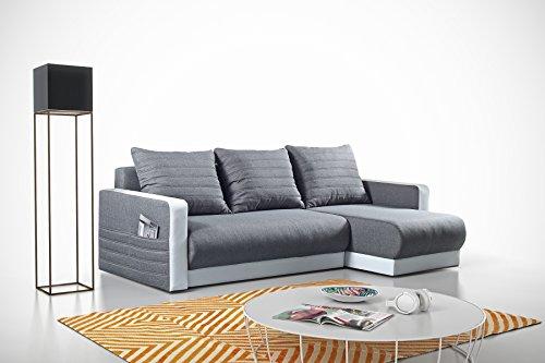 mb moebel kleines ecksofa eckcouch mit bettk sten mit schlaffunktion soft couch wohnlandschaft l. Black Bedroom Furniture Sets. Home Design Ideas
