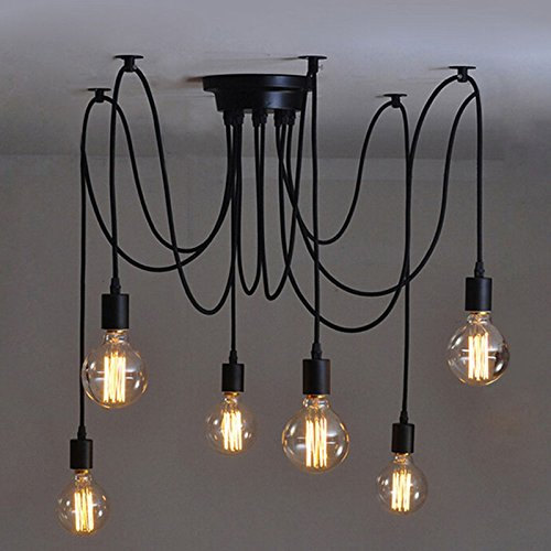 olayer Vintage Edison Industrial Steampunk Loft Kronleuchter Deckenleuchte Pendelleuchte Lampe