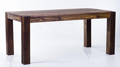 Brasilmöbel Esstisch 'Rio Kanto' 160 x 90 x 78 cm, Pinie Massivholz, Farbton Eiche antik Cognac