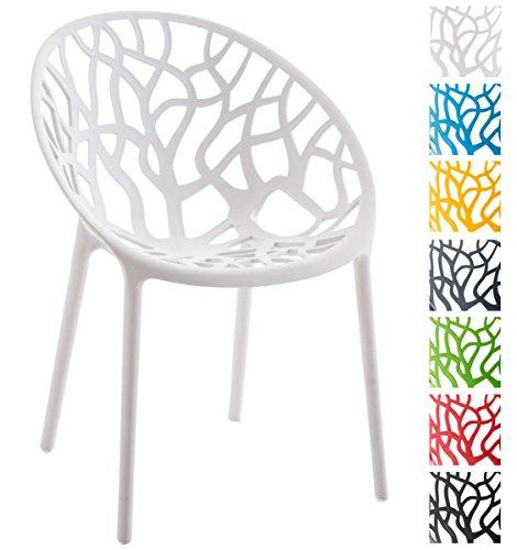 CLP Design Gartenstuhl HOPE - praktischer Kunststoff-Stapelstuhl für drinnen & draußen, stabil, max. Belastbarkeit 150 kg
