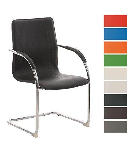 CLP Konferenzstuhl / Besucherstuhl MELINA, Freischwinger mit Armlehne, Kunstlederbezug und gepolsterter Sitzfläche