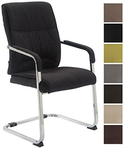 CLP XXL-Freischwinger Anubis mit Stoffbezug und Gepolsterter Sitzfläche I Konferenzstuhl mit Metallgestell in Chrom-Optik I in Verschiedenen Farben erhältlich