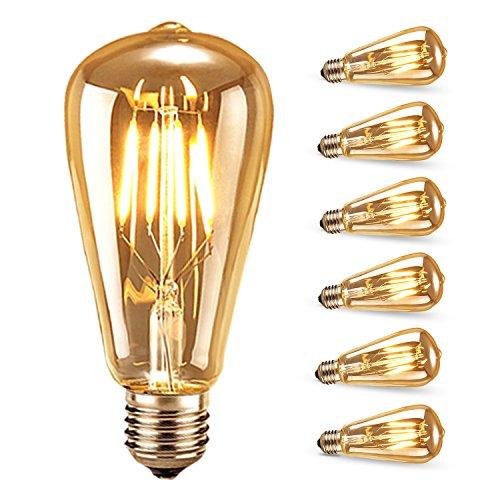 Edison gl hlampen samione edison led lampe vintage stil gl hbirne squirrel cage retro lampe - Antike esszimmertische ...