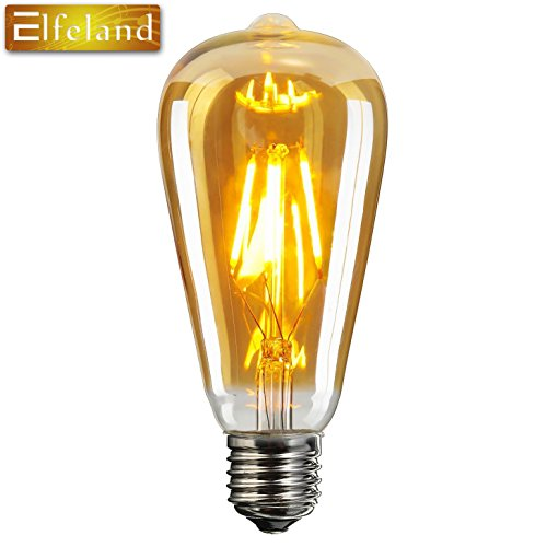 elfeland edison led globe gl hbirne e27 6w retro vintage industriell stil gl hbirne lampe. Black Bedroom Furniture Sets. Home Design Ideas