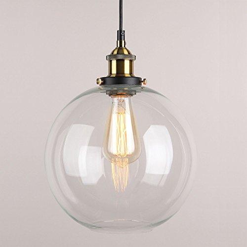 Hahaemall Innen Kugel Mini Pendelleuchte klar Glas Lampenschirm (Leuchtmittel nicht enthalten)