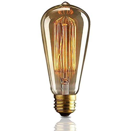 KJLARS Vintage Edison Glühbirne Glühlampe E27 25W ST64 Filament Fadenlampe Für Nostalgie Retro Industry Style Leuchtmittel