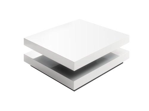 Couchtisch Hugo - obere Platte drehbar - Maße in B/H/T: ca. 75x75x30 cm