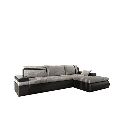 mirjan24 big ecksofa oslo eckcouch mit bettkasten und schlaffunktion sofa bettsofa l form. Black Bedroom Furniture Sets. Home Design Ideas