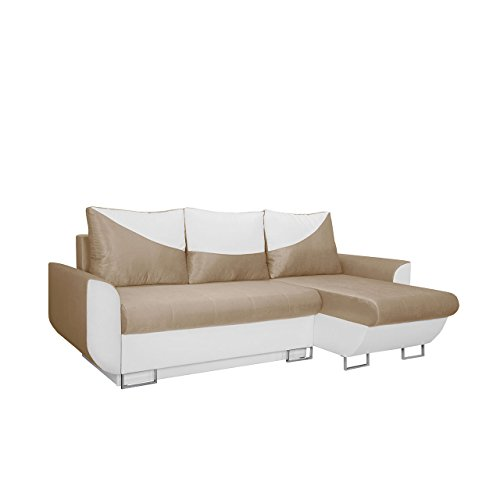 mirjan24 ecksofa sabello couch sofa eckcouch mit schlaffunktion und bettkasten ottomane. Black Bedroom Furniture Sets. Home Design Ideas