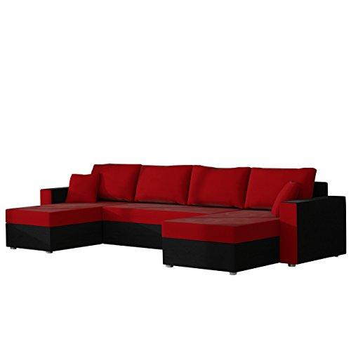 mirjan24 ecksofa sofa couchgarnitur couch rumba style wohnlandschaft mit schlaffunktion und. Black Bedroom Furniture Sets. Home Design Ideas