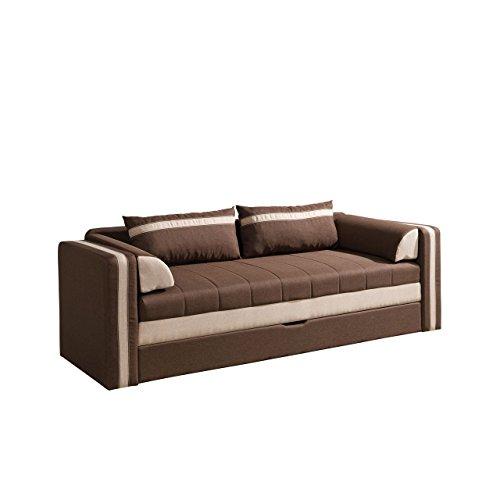 mirjan24 schlafsofa euforia couch mit bettfunktion polstersofa mit bettkasten und. Black Bedroom Furniture Sets. Home Design Ideas