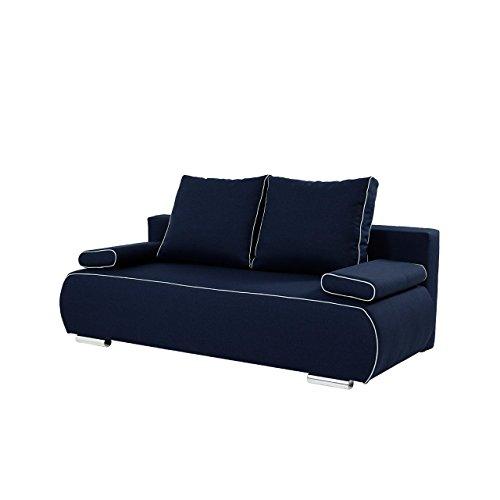 mirjan24 schlafsofa las palmas mit bettkasten 2 sitzer sofa inkl kissen set couch mit. Black Bedroom Furniture Sets. Home Design Ideas