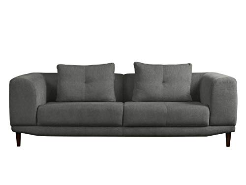Mirjan24  Sofa Mello III, Farbauswahl, 3 Sitzer Couch, Hochwertiges Polstersofa, Couchgarnitur, Sofagarnitur, Wohnlandschaft (Chester 19)