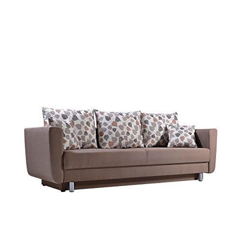 Sofa Samara mit Bettkasten und Schlaffunktion, Design Couch, Modernes Funktionssofa, Bettsofa Schlafcouch Schlafsofa (Flash 04 + Leandra 1)