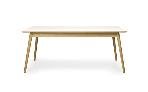 Tenzo 1680-901 Dot Designer Esstisch Holz, weiß / eiche, 90 x 180 x 75 cm