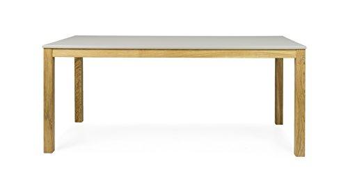 Tenzo 3580-083 Fresh Designer Esstisch Holz, warm grey / eiche, 90 x 180 x 75 cm