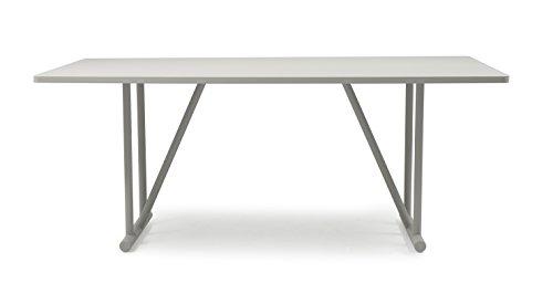 Tenzo 4020-912 Grain Designer Esstisch Holz, grau gebeizt, 90 x 180 x 75 cm