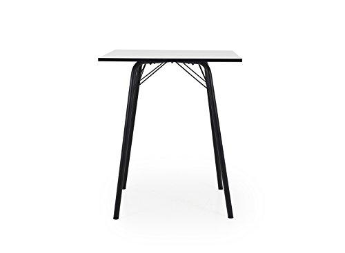 Tenzo Dine Designer Bartisch, Spanplatte, Weiß/Schwarz, One Size