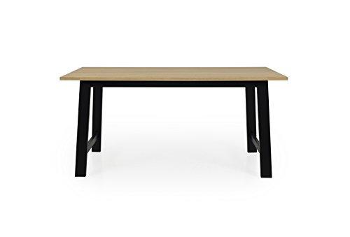 Tenzo Lex 2780-054 Designer Esstisch, 75 x 160 x 90 (Hxbxt), Tischplatte Furnierplatte, MDF, Eiche/Schwarz, geölt
