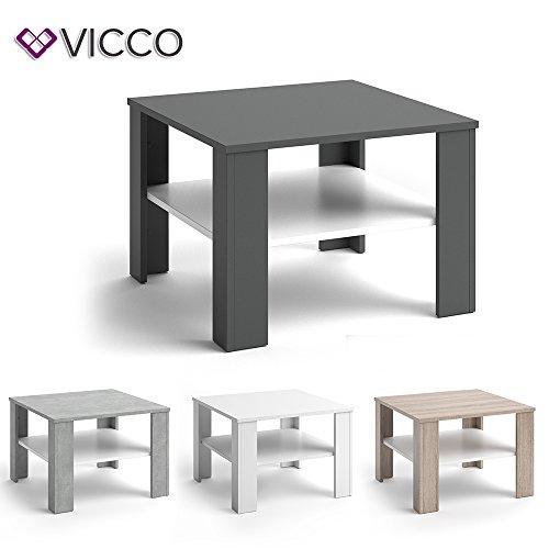 VICCO Couchtisch HOMER 60x60 - Wohnzimmer Sofatisch Kaffeetisch 3 Farbvarianten +++ Beistelltisch - mit Ablagefach - Top Design +++